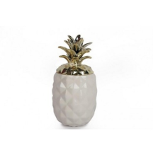 White and Gold Pineapple Storage.